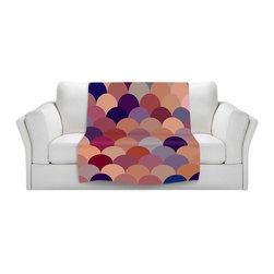 DiaNoche Designs - Fleece Throw Blanket by Organic Saturation - Tan Scales Pattern - Original Artwork printed to an ultra soft fleece Blanket for a unique look and feel of your living room couch or bedroom space.  DiaNoche Designs uses images from artists all over the world to create Illuminated art, Canvas Art, Sheets, Pillows, Duvets, Blankets and many other items that you can print to.  Every purchase supports an artist!