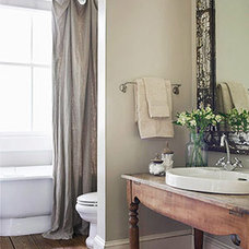 traditional  Smart, Stylish Small-Bathroom Designs