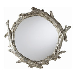 """Arteriors - Arteriors Home Oakley Mirror - Arteriors Home - Oakley Mirror - 9655 Features: Oakley Collection Mirror Goldberg finishResin and glass Material Some Assembly Required. Dimensions: 5 - 10.5"""" D X 3.5 - 8"""" H"""