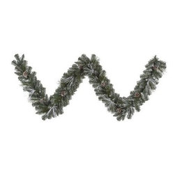 Vickerman 9 ft. Frost White Mix Tip Pre-Lit Garland - Decorate your mantle, staircase, or front porch with the beautifully made Vickerman 9 ft. Frost White Mix Tip Pre-Lit Garland. Merry lights accent the frosted tips of this garland, giving your home the look of a winter wonderland. About VickermanThis product is proudly made by Vickerman; a leader in high quality holiday decor. Founded in 1940; the Vickerman Company has established itself as an innovative company dedicated to exceeding the expectations of their customers. With a wide variety of remarkably realistic looking foliage; greenery and beautiful trees; Vickerman is a name you can trust for helping you create beloved holiday memories year after year.
