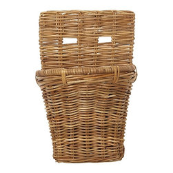 Eco Displayware - Small French Storage Wall Rattan Basket in Na - Great for closet, bath, pantry, office or toy and game storage. Earth friendly. 8 in. L x 10 in. W x 15 in. H (4.36 lbs.)These natural colored baskets add warmth and charm and keep you organized.