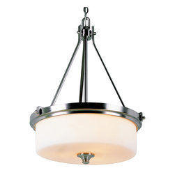 Trans Globe 7927 BN Brushed Nickel Knob Pendant - Trans Globe 7927 BN Brushed Nickel Knob Pendant-Collection: Nickel Knob-Number of Bulbs: 3-Bulb Type: 60 Watt Medium-Bulbs Not Included-Glass/Shade: Frosted-Weight: 19-1 Year Limited Warranty