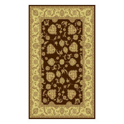 """Dynamic Rugs - Dynamic Rugs Legacy 58020-600 (Brown) 6'7"""" x 9'6"""" Rug - Legacy is yet another superb collection with magnificent styling and priced to fit any budget. Legacy is densely Woven on wilton loom with high quality heat-set polypropylene that is anti-static with highest color fastness."""