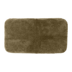 None - Posh Plush Taupe 30x50 Bath Rug - Revel in spa-like luxury with the Posh Plush collection of bath rugs. This taupe rug features an amazingly soft, yet durable, machine washable plush along with a non-skid latex backing for safety.