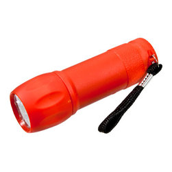 Waterproof Mini LED Flashlight - If you've ever been caught in the dark without a flashlight and only a faint memory of the last time you saw one lying around, you might want to get a few of these handy mini-lights to keep in strategic places. Choose between four color choices; red, blue, yellow, and black. Lastly, don't worry about accidently dropping them in the toilet during the next power outage because they are indeed waterproof! Additional Benefits: Nine LED chips give 160 lumens; which means, these little lights produce a lot of light! Lights up a distance of 50 to 100 meters or 165 to 325 feet Can transition from a standard on/off mode as well as strobe Small and compact; 1 inch diameter by 3.5 inches in length Takes 3AAA batteries, which are not included.