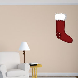 Christmas Stocking Vinyl Wall Decal ChristmasStockingUScolor002; 72 in. - Vinyl Wall Decals are an awesome way to bring a room to life!
