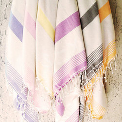 Turkish Hammam Towel by Soft Towel - Colorful beach towels are a must for the summer. Leave these hanging up in a guest bathroom or pile them in a basket near pool chairs for easy access after a summer dip.