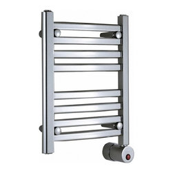 "Mr. Steam - Wall Mount Electric Towel Warmer - Features: -Towel warmer. -Quality design and performance. -Sleek curved lines maximize surface heating area. -Simple elegance complements any bathroom. -Built in Aromatherapy well standard. -CULus listed. -Overall dimensions: 20-48"" H x 16-20"" W x 4.375-4.25"" D."