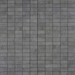 Refin - Artech Grigio (Grey) Mosaic H967 - Faint luminescent striations in these tiles, create just a hint of opalescent texture which makes this otherwise very mature, minimalist tile sparkle. This understated patterning makes the Artec Collection ideal for ultra-modern settings. These through-body porcelain tiles excel in terms of durability & wear resistance.
