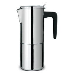 Cuisinox - Alpha 6 Cup Espresso Maker - Cuisinox Alpha has created a premium grade stovetop espresso coffeemakers with a distinguished style and hand crafted to the highest possible standards in the industry. Featuring a heavy gauge 18/10 stainless steel construction , induction base, and suitable for all cooking surfaces. This exceptional espresso coffeemaker is beautiful as well as practical.