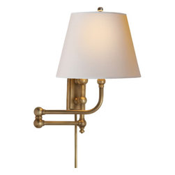 """Pimlico Double Swing Arm Up Light - Dimensions: Height: 17"""" x Width: 12"""""""