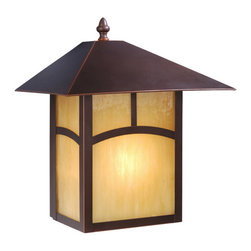Vaxcel - Mission Burnished Bronze Outdoor Wall Sconce - Vaxcel OW37213BBZ Mission Burnished Bronze Outdoor Wall Sconce