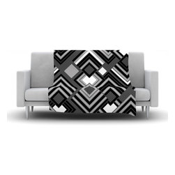 "Kess InHouse - Jacqueline Milton ""Luca - Monochrome"" Black White Fleece Blanket (30"" x 40"") - Now you can be warm AND cool, which isn't possible with a snuggie. This completely custom and one-of-a-kind Kess InHouse Fleece Throw Blanket is the perfect accent to your couch! This fleece will add so much flare draped on your sofa or draped on you. Also this fleece actually loves being washed, as it's machine washable with no image fading."
