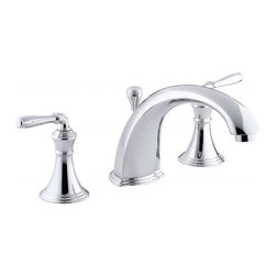 Kohler - Devonshire Deck-mount Bath Faucet Trim with Lever Handles - Fill the bath quickly and elegantly with the durable Devonshire® deck/rim mount faucet. With natural lines and smooth lever handles, this Kohler finish resists corrosion and tarnishing, exceeding industry durability standards.