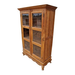 Lincoln Study Solid Wood Glass Door Bookcase - Manufacturing details
