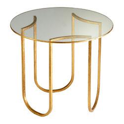 Cyan Design - Cyan Design Vincente 25 Inch Round Chairside Table - Vincente 25 Inch Round Chairside Table