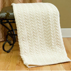Quilted Cable Micro Mink Throw - Looking for a soft and plush throw doesn't mean that you have to break the bank. This is one of my favorites, and it's less than $40. You can't beat that price for a little luxury.