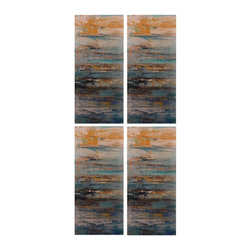 Sterling Industries - Sterling Industries 138-156/S4 Printed Panel Decor - Set Of 4 Abstract Printed Metal Wall D�cor Panels