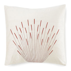 Jiti - Branches Cream Pillow - Jazz up your home decor with our Branches Cream Pillow !  Made from 100% Silk. Invisible Zipper. DRY CLEAN ONLY. Insert is made of 95% feathers and 5% down.