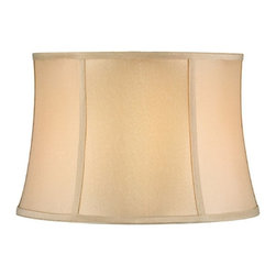 "Dolan Designs - Full Size Beige Round Bell Softback Shade 13"" - Beige Finish"