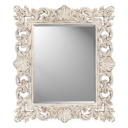 Paragon Rectangle Cream Shells Mirror - I like this subtle shell mirror. The antique finish makes it feel like it came right off the beach.