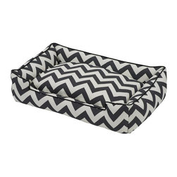 Jax & Bones - Jax & Bones Cotton Blends Lounge Bed Ziggy Large - The Jax and Bones cotton blends lounge bed is perfect for your dog for lazing around, snuggling, curling into, and leaning against. The warmth and extra reassurance this bed provides lets your dog remain comfortable and happy. With extremely unique range of designs, these beds are easy to maintain and made from the highest quality material especially considering we use an eco-friendly fiber called Sustainafill.  A diverse selection of heavy weight fabrics that are machine washable and luxurious to the touch. Most of these fabrics carry a texture that will create a uber luxurious upholstery feeling dog bed. Great for medium to high traffic use and homes that want a more unique design. Machine washable, low heat tumble recommended! 100% Machine Washable and filled with Sustainafill, an eco-friendly fiber.