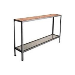 """Warehouse 60"""" Console by Charleston Forge - Dimensions:"""