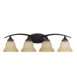 Sea Gull Lighting - Sea Gull Lighting 44177-710 Sea Gull Lighting 44177-962 Brushed Nickel Brockton - Sea Gull Lighting 44177 Brockton Four Light Wall/Bath Vanity Brockton Four Light Wall/Bath VanityThe aviation-inspired Brockton Collection will elevate