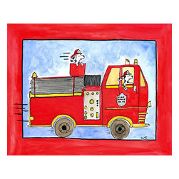 Oh How Cute Kids by Serena Bowman - Big Red, Ready To Hang Canvas Kid's Wall Decor, 16 X 20 - Every kid is unique and special in their own way so why shouldn't their wall decor be so as well! With our extensive selection of canvas wall art for kids, from princesses to spaceships and cowboys to travel girls, we'll help you find that perfect piece for your special one.  Or fill the entire room with our imaginative art, every canvas is part of a coordinating series, an easy way to provide a complete and unified look for any room.