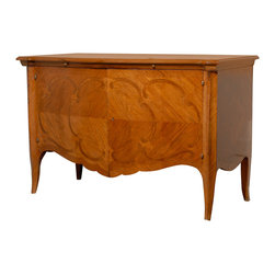 Consigned Late 19th Century French Buffet - Subtly inlaid, this mahogany and satinwood buffet makes a refined statement in your dining room. It's a stellar example of 19th-century French craftsmanship that brings a formal but not fussy tone to your decor.