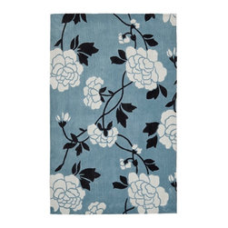 "Safavieh - Country & Floral Modern Art 2'6""x4' Rectangle Blue - Ivory Area Rug - The Modern Art area rug Collection offers an affordable assortment of Country & Floral stylings. Modern Art features a blend of natural Blue - Ivory color. Hand Tufted of Polyester the Modern Art Collection is an intriguing compliment to any decor."