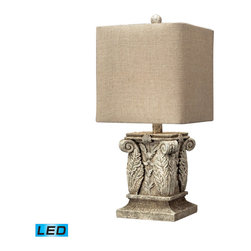 Dimond Lighting - Dimond Lighting Wymore Corinthian Column Table Lamp in Vintage White - LED Offer - Corinthian Column Table Lamp in Vintage White - LED Offering Up To 800 Lumens belongs to Wymore Collection by Dimond Lighting Lamp (1)