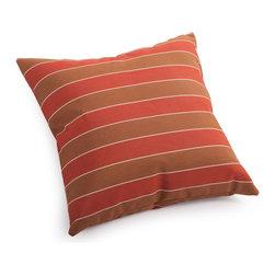 Zuo Modern - Zuo Modern Joey Small Pillow Brown & Clay Wide Stripe - Small Pillow Brown & Clay Wide Stripe belongs to Joey Collection by Zuo Modern Pillow (1)