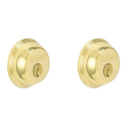Schlage - Schlage Double Cylinder Deadbolt in Bright Brass - Double Cylinder Deadbolt in Bright Brass belongs to Door Locks Collection by Schlage The double cylinder deadbolt provides maximum security protection with style and design.  The rich gold tones of Bright Brass help to create an inviting space. Schlage has built a legacy of providing the highest level of security to homes and businesses.  Install a Schlage, and you install nearly a century of total dedication to security, quality, and innovation.   Deadbolt (1)