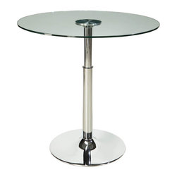 Standard Furniture - Standard Furniture Cosmo Round Glass Top Dining Table with Fixed Pedestal Base - Cosmo presents a dynamic new concept for casual dining that's all about function and versatility paired with modern urban styling.