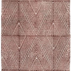 Russet Printed Dhurrie by John Robshaw - This hand-blocked diamond patterned dhurrie will add a layer of tribal style to your floor.