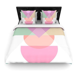 "Kess InHouse - Mareike Boehmer ""Pastel Play 3X"" Purple Pink Fleece Duvet Cover (Twin, 68"" x 88"" - You can curate your bedroom and turn your down comforter, UP! You're about to dream and WAKE in color with this uber stylish focal point of your bedroom with this duvet cover! Crafted at the click of your mouse, this duvet cover is not only personal and inspiring but super soft. Created out of microfiber material that is delectable, our duvets are ultra comfortable and beyond soft. Get up on the right side of the bed, or the left, this duvet cover will look good from every angle."