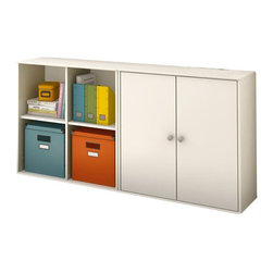 South Shore - South Shore Stor It 2 Piece Storage Unit in Pure White - South Shore - Storage Cabinets - 505077X2PKG - South Shore Stor It 4 Cubby Storage Unit in Pure White (included quantity: 1) This shelving unit from the Stor It collection in Pure White finish has four open cubes designed to maximize storage in all the rooms of your house. Its curved lines and minimalist design are typical of the transitional style that matches any decor. Match it up with other pieces from the Stor It collection to create your own storage solution. Features: