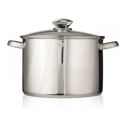 EPOCA - Pure Intentions Stainless Steel 16 Qt. Stock Pot with Lid - Ecolution Pure Intentions Stainless Steel 16 qt. Stock Pot with Lid
