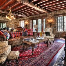 Farmhouse Living Room by Bryan David Design