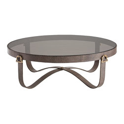 "Stirrup Large Cocktail Table - H: 16"" Dia: 49"""