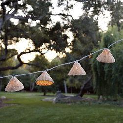 David Stark Outdoor String Lights - Set a magical mood. Hanging multiple strands of these seagrass fairy lights on your terrace, balcony or in the trees provides a touch of whimsy to summer nights.