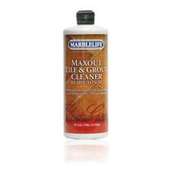 Our Natural Stone Care Products - MaxOut Tile and Grout Cleaner Ready-To-Use is a specifically designed formulation that emulsifies grease and dirt from your grout. Will not harm ceramic or stone tile.  New technology, using emulsifiers, works quickly on grease and dirt allowing for faster cleaning of grout, resulting in less time on the job.  When used correctly, MaxOut Concentrate removes stubborn surface grime with simple agitation.