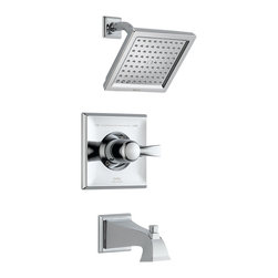 Delta Monitor(R) 14 Series Tub and Shower Trim - T14451 - The clean lines and dramatic geometric forms of the Dryden Bath Collection are based on style cues from the Art Deco period.