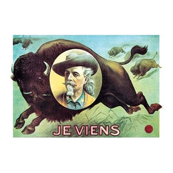 "Buyenlarge.com, Inc. - Buffalo Bill: Je Viens - Paper Poster 12"" x 18"" - Another high quality vintage art reproduction by Buyenlarge. One of many rare and wonderful images brought forward in time. I hope they bring you pleasure each and every time you look at them."
