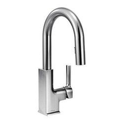 Moen - Moen STo Single Handle High Arc Pulldown Bar Faucet, Chrome (S62308) - Moen S62308 STo Single Handle High Arc Pulldown Bar Faucet, Chrome