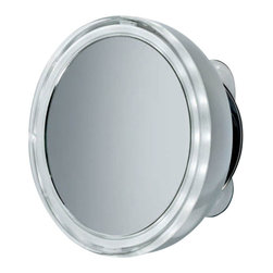 WS Bath Collections - Smile 701 illuminated Magnifying Mirror - Smile 701 Illuminated Magnifying Makeup Mirror, 3x Magnification