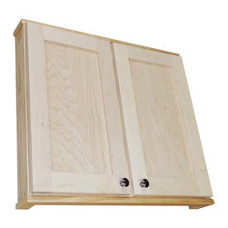 None - Shaker Series 30-inch Double Door On the Wall 2.5-inch Deep Cabinet - Spice up your kitchen decor with the Shaker Series,on-the-wall cabinet. This double-door cabinet sits on concealed hinges leaving the door undrilled for a knob or handle so you can mount it to open in either direction.
