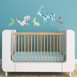 Forest Friends Kids Wall Decal - Create a woodland retreat for your little one with this adorable design featuring a deer, a fox, and a bunny.