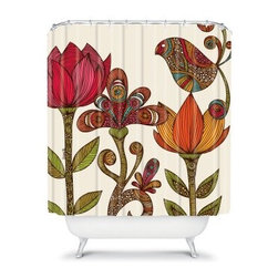 DENY Designs Valentina Ramos Garden Flowers Shower Curtain - With the DENY Designs Valentina Ramos Garden Flowers Shower Curtain hanging around, spring will always be in the air. Vibrant colors bring the designer print of this woven polyester shower curtain to life. Your bathroom will never feel the same again. About DENY DesignsDenver, Colorado based DENY Designs is a modern home furnishings company that believes in doing things differently. DENY encourages customers to make a personal statement with personal images or by selecting from the extensive gallery. The coolest part is that each purchase gives the super talented artists part of the proceeds. That allows DENY to support art communities all over the world while also spreading the creative love! Each DENY piece is custom created as it's ordered, instead of being held in a warehouse. A dye printing process is used to ensure colorfastness and durability that make these true heirloom pieces. From custom furniture pieces to textiles, everything made is unique and distinctively DENY.
